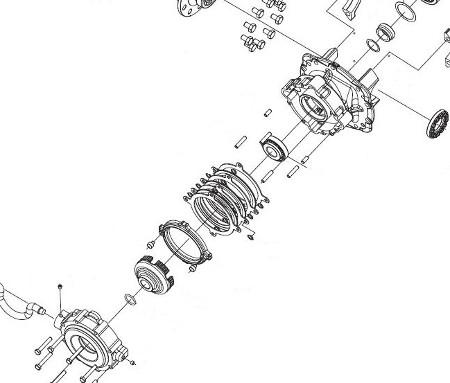 Hyundai targonca többtárcsás rögzítőféke a differenciálmű és váltó között