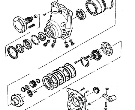 Többtárcsás (lamellás) fék elektromos targoncánál