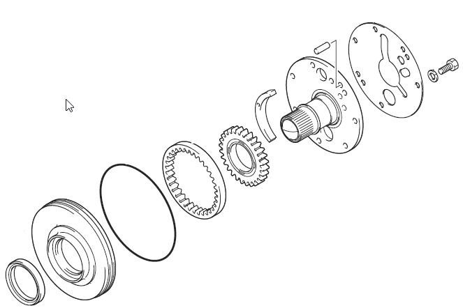 Sarlós váltószivattyú robbantott rajza